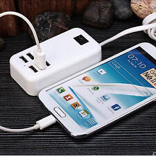 Portable 6 Ports USB Travel Car Charger Power Adapter for Samsung Galaxy Note 4