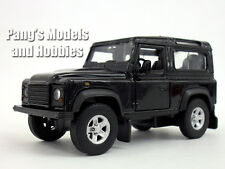 Land Rover Defender BLACK 1/32 Scale Diecast Metal Car Model