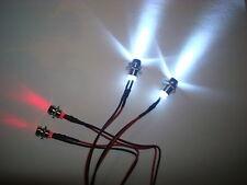 4LED Beleuchtungs Set,front/heck,RC 1:5,1:8,1:10 Autos mit Fassung und Stecker