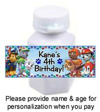 30 Paw Patrol Birthday Party Or Baby Shower Sticker For Mini Bubbles Skye Chase