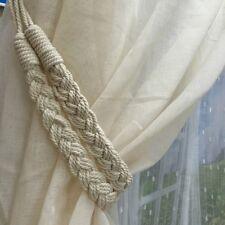 1Pair Braided Curtain Tiebacks Handmade Holdback Window Drapery 65cm Tie Backs