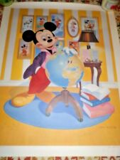 John Hench Signed Mickey Mouse Lithograph 60th Anniversary Poster rolled w/cert
