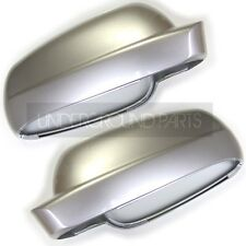 METALLIC REFLEX SILVER LEFT & RIGHT DOOR MIRROR COVERS CAPS VW GOLF BORA PASSAT