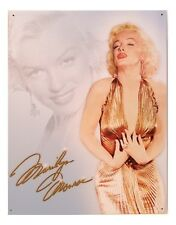 "Tin Sign- "" Marilyn Monroe - Gold Dress  "" Vaniety & Bath Metal Wall Art"