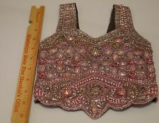 Belly Dance Indian Kids Sequin Bollywood choli Saree Sari Blouse top