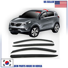 A119 SMOKED DOOR WINDOW VENT VISOR SUN RAIN DEFLECTOR KIA SPORTAGE 2011-2015