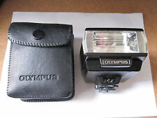 OLYMPUS T20 FLASHGUN + ORIG. POUCH FOR OLYMPUS OM SLR SERIES.