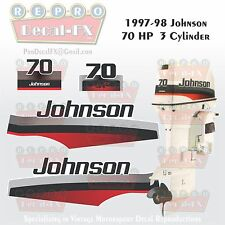 1997-98 Johnson 70 HP Outboard Reproduction 4 Piece Marine Vinyl Decals 2-Stroke