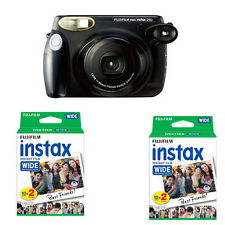 Fujifilm Fuji Instax 210 Wide Instant Film Camera, Black + 40 Prints Instax Film
