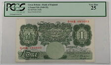 (1949-55) Great Britain Bank of England 1 Pound Note SCWPM# 369b PCGS VF-25