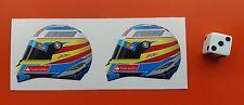 X2 casco F1 Pegatinas Fernando Alonso Ferrari F1 50mm X 40mm