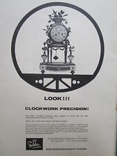 9/1964 PUB FOKKER AIRCRAFT HOLLAND F27 FRIENDSHIP CLOCK PENDULE ORIGINAL AD