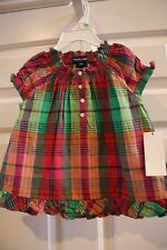 NWT 18 mos Ralph Lauren 2 pc girls outfit purple pink green plaid