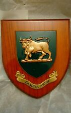 Zambia Army  plaque shield crest Zambian Boxed Immaculate