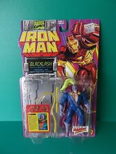 "TOY BIZ IRON MAN 5""IN ""BLACKLASH"" W/NUNCHAKU AND WHIP CRACKING ACTION 1994"