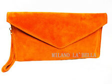 27 Colours Large Envelope Clutch Evening Genuine Real Suede Leather Shoulder Bag
