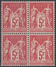 "FRANCE STAMP TIMBRE N° 216 "" EXPOSITION PARIS 5F SAGE BLOC 4 "" NEUFS xx TB J507"