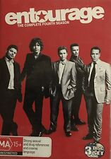 Entourage The Complete Season 4 HBO 3-Disc Set Region 4 DVD VGC
