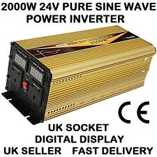 2000W/4000W (Peak) DC24V-AC240V PURE SINE WAVE POWER INVERTER DIGITAL DISPLAY