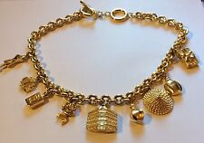 VTG CHRISTIAN DIOR THICK CHAIN SIGNED DIOR CHARMS NECKLACE~ 90s