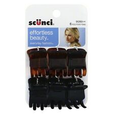 Scunci Effortless Beauty Everyday Fashion Mini Jaw Clips 6 ea