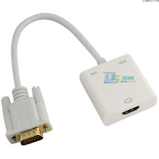 Gold Plated 1080P VGA Male to HDMI Female Output Video Adapter Cable Cord PC DVD