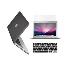 "3 in 1 Rubberized GREY Case for Macbook PRO 15"" + Keyboard Cover +   LCD Screen"