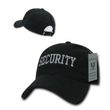 Black Security Officer Guard Agent Low Crown Polo Style Baseball Ball Cap Hat
