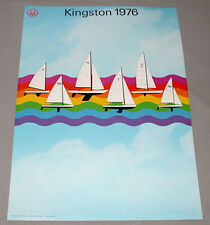 Original Montreal 76 Summer Olympic Official Kingston Yachting  Poster