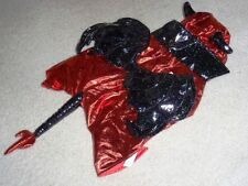 PUPPY DOG PET HALLOWEEN COSTUME RED BLACK VINYL DEVIL LARGE 21-30 LBS