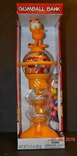 "Garfield Standing Spiral Gumball Bank Machine with Gumballs 12"" - NIB"
