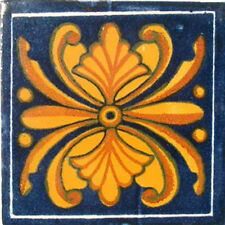 90 MEXICAN CERAMIC TILES WALL OR FLOOR USE CLAY TALAVERA MEXICO POTTERY #C044