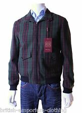 Holland ESQUIRE Vert Plaid CHECK BOMBER support BNWT