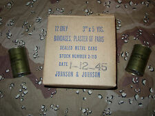 BANDAGES WWII  1945  PLASTER IN A SEALED CAN COLLECTABLE