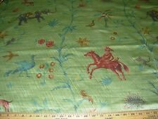 ~BTY~BRAEMORE~VARIOUS  ANIMALS~COTTON SATEEN UPHOLSTERY FABRIC FOR LESS~ITALY~