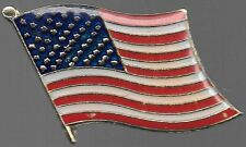 USA FLAG ENAMEL PIN    BUY 2 GET 1 FREE = 3 OF THESE