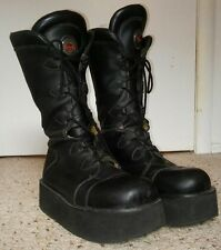 Swear Alternative Platform Black Leather Boots 11.5 RARE Goth Raver Cyber 45 ��