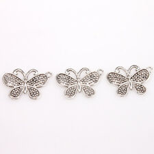 100x Tibetan Silver Alloy Butterfly Beads Pendants Charms Jewellery Crafts C