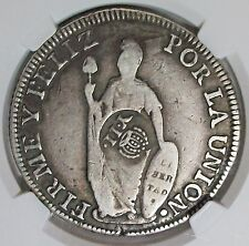 ND(1837) PHILIPPINES ISABELLA II OF SPAIN COUNTERSTAMPED 8 REALES NGC VF-25