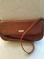 ETIENNE AIGNER Croc Embossed Genuine Leather Shoulder Bag ~ CLASSIC!!