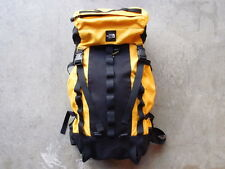 Vintage 90s North Face Ripstop Day Pack Backpack Yellow Hiking Backpacking Bag