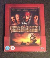 POTC CURSE OF THE BLACK PEARL Blu-Ray SteelBook Zavvi UK Exclusive New OOP Read