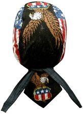 Vintage American USA Eagle Doo Rag Headwrap Cap Sweatband Capsmith Biker Durag