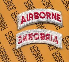 US ARMY AIRBORNE TAB WHITE & RED patch c/e