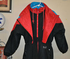 Vtg 80s 90s INNSBRUCK SKI Red & Blue Snowboard Snow Suit Lined Jacket Coat SMALL