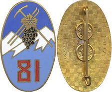 81° Régiment d'Infanterie Alpine, émail, ovale ALGERIE, Drago Paris, (5151)