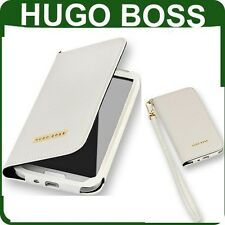 Véritable Hugo Boss en cuir Flip Case Samsung Galaxy S4 GT i9505 couverture originale