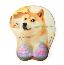Doge 3D Oppai Mousemat - Funny Dog Cute Kawaii Boob Mousepad - Very Sex Wow!