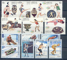 Olympiade 1988, Olympic Games - Laos - 14 Werte ** MNH