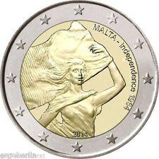 2 Euro Gedenkmünze/Sondermünze Malta 2014 1964 Unabhängigkeit ohne Prägezeichen